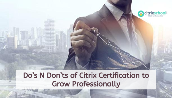 how to grow professionally with citrix certification