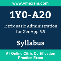 1Y0-A20 Dumps Questions, 1Y0-A20 PDF, CCA - XenApp 6 Exam Questions PDF, Citrix 1Y0-A20 Dumps Free, CCA - XenApp 6 Official Cert Guide PDF