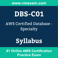 DBS-C01 Dumps Questions, DBS-C01 PDF, Database Specialty Exam Questions PDF, AWS DBS-C01 Dumps Free, Database Specialty Official Cert Guide PDF