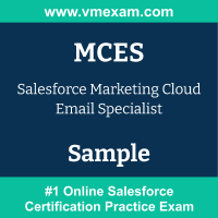 MCES Braindumps, MCES Exam Dumps, MCES Examcollection, MCES Questions PDF, MCES Sample Questions, Marketing Cloud Email Specialist Dumps, Marketing Cloud Email Specialist Official Cert Guide PDF, Marketing Cloud Email Specialist VCE